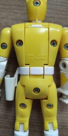 power rangers amarela flip head