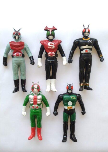 Kit bonecos Kamen RaidersKit bonecos Kamen Raiders - X/Strong/Black/V3/RX